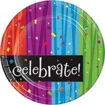 "*Milestone Celebrate Dessert 7"" plate"
