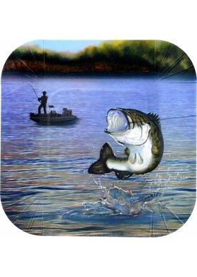 ***Gone Fishin' 7in Dessert Plate