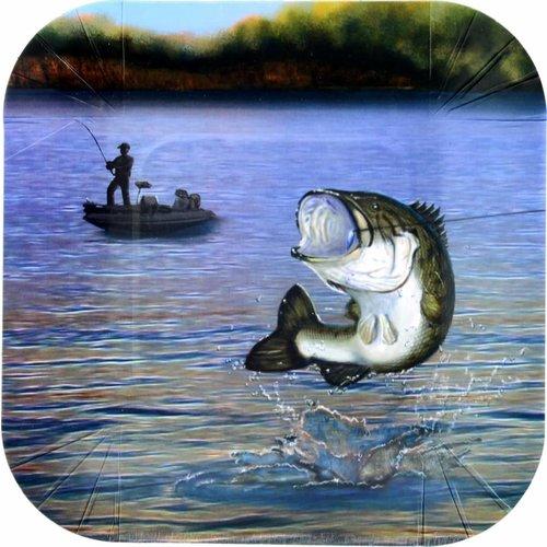 Gone Fishing Dessert Plate