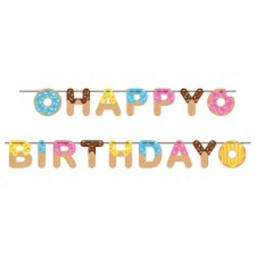 *Donut Time Birthday Ribbon Banner