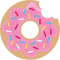 ***Donut Time Shaped Postcard Invitations 8ct