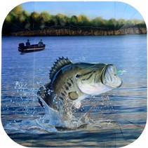 ***Gone Fishin 9in Dinner Plate