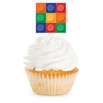 ***Block Party 12ct Cupcake Picks