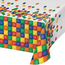 *Block Party Plastic Tablecover