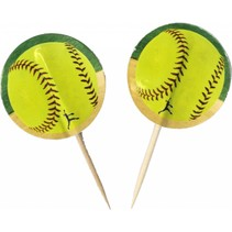 ***Softball Cupcake Picks