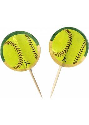 ***Softball Cupcake Picks