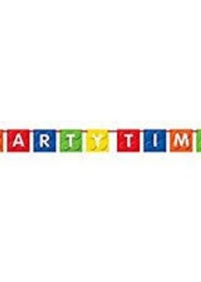 "***Building Blocks ""Party Time"" Flag Banner"