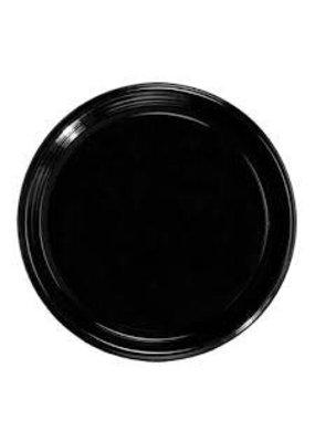 "***Black 16"" Round Flat Tray"