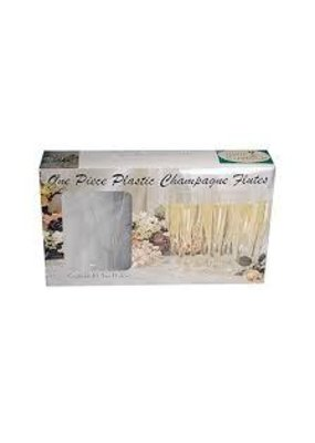 ***Champagne Flutes 1pc Boxed 10ct