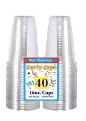 ***Clear 16oz Soft Plastic Cups 40ct