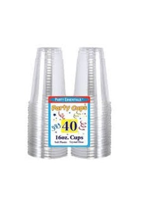 ***Clear 16oz Soft Plastic Cups 40ct