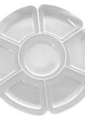 """***Clear 16"""" Round 7 Compartment Tray"""