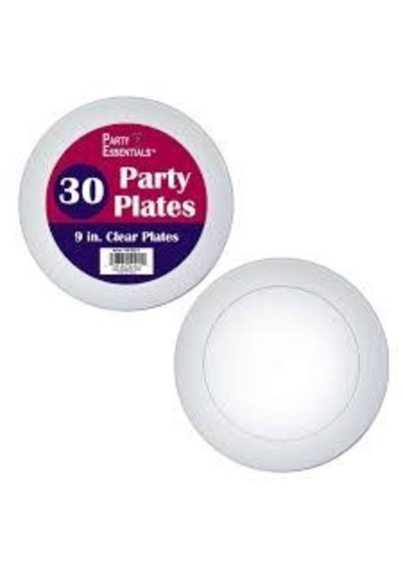 """***Clear 9"""" Party Plates 30ct"""