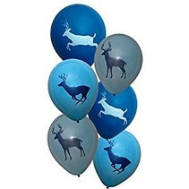 ***Buck Light Blue Latex Balloons