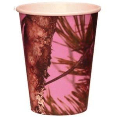 12oz Pink Mossy Oak Cups