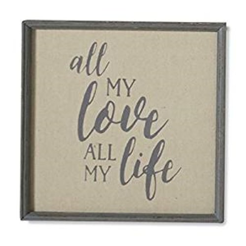 All My Love Burlap Framed Word Art