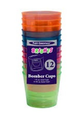 ***Bomber Cups 12ct Neon Assorted Colors 12ct