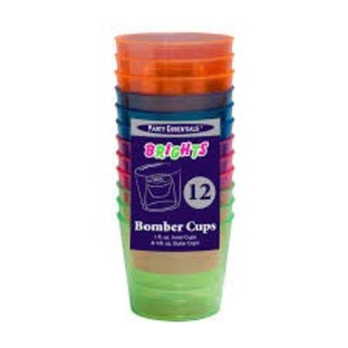 **Bomber Cups 12ct Neon Assorted Colors