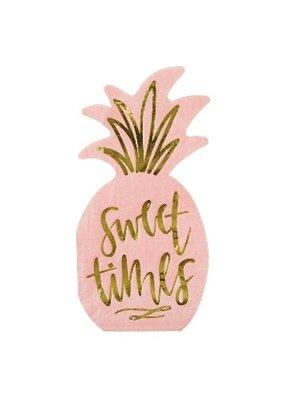 ***Sweet Times Pineapple Shaped Luau Beverage Napkins