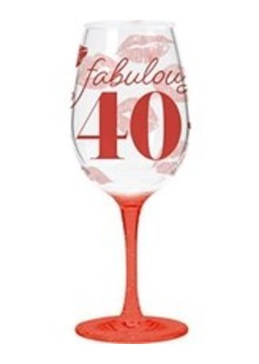 CR Gibson ***Fabulously 40 Acrylic Wine Glass