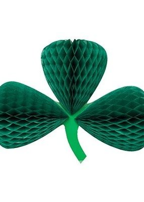 ***St. Patrick's Day Clover Honeycomb Cutout