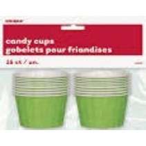 ***Candy Cups Green Paper 16ct
