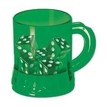 ***Green St. Patrick's Day Mug with Dice