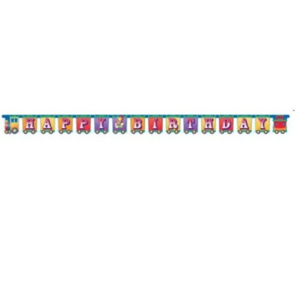 *Circus Big Top Happy Birthday Jointed Banner