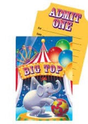 ***Big Top Birthday Invitations 8ct