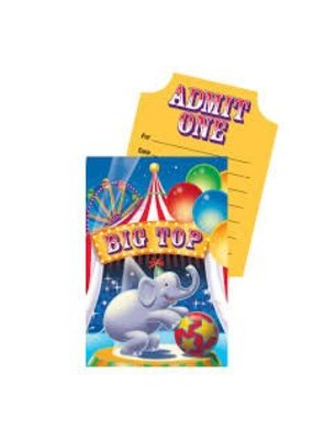 ***Big Top Birthday Invitations 8ct