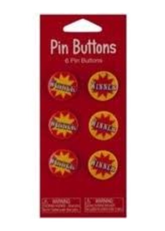 *****Circus Pin Winner Buttons 6ct