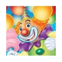 *Big Top Birthday Circus Clown Beverage Napkins