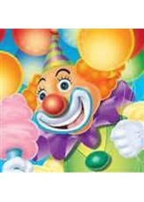 ***Big Top Birthday Circus Clown Beverage Napkins