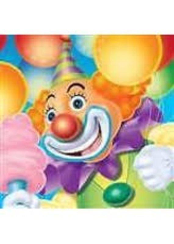 *****Big Top Birthday Circus Clown Beverage Napkins