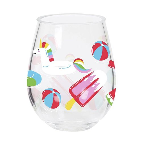 CR Gibson Float Double Wine Glass