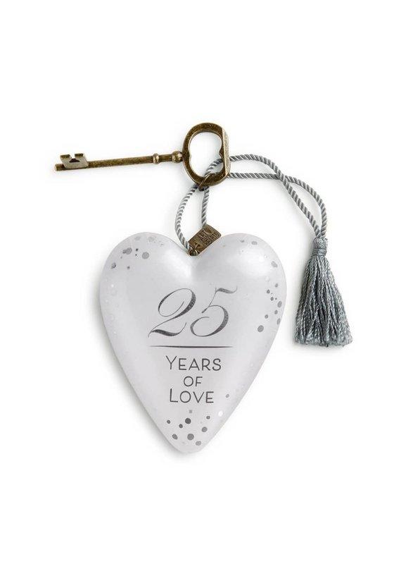 ***25 Years of Love Art Heart