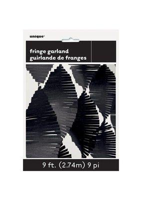 ***Black Fringe Garland 9ft