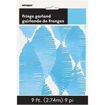 ***9' Tissue Fringe Garland Light Blue