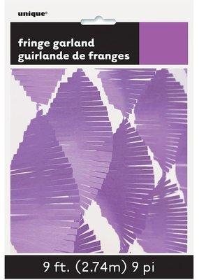 ***Tissue Fringe 9ft Garland Light Purple