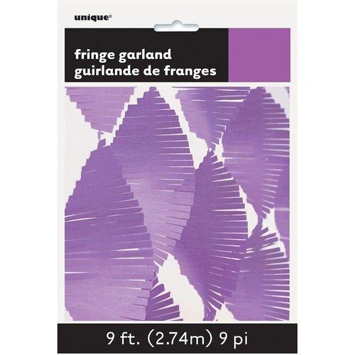 *9' Tissue Fringe Garland Light Purple