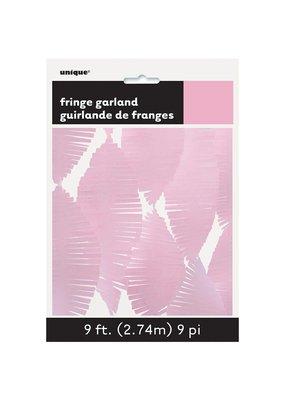 *Light Pink 9' Tissue Fringe Garland