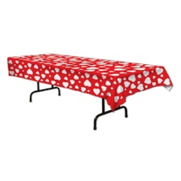 **Heart All Over Print Plastic Tablecover