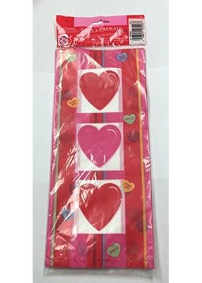 ***Candy Hearts Large Cello Bag 20ct