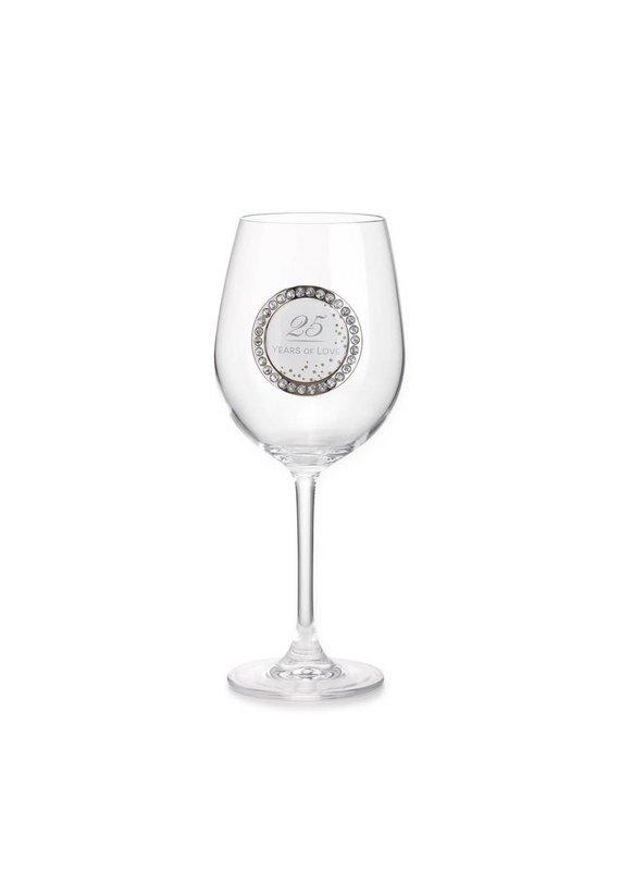 ***25 Years Wine Glass