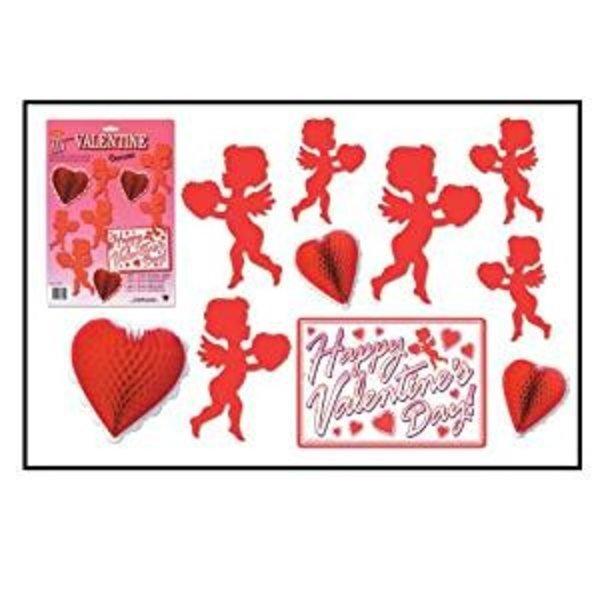 **Valentine's Day Decorating Kit 10 pieces