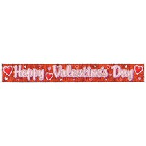 "**Happy Valentine's Day Fringe Banner 8"" x 60"""