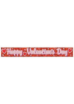 "****Happy Valentine's Day Fringe Banner 8"" x 60"""