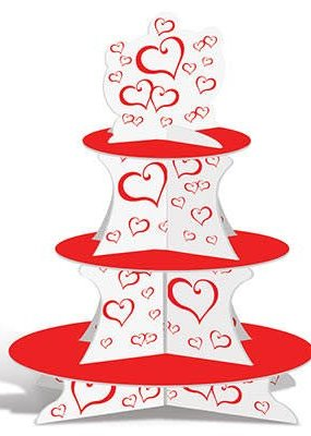 ***Valentine Red Heart Cupcake Stand