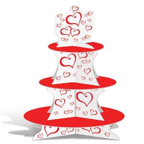 **Valentine Red Heart Cupcake Stand