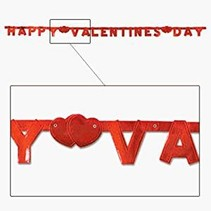 **Happy Valentine's Day Jointed Banner